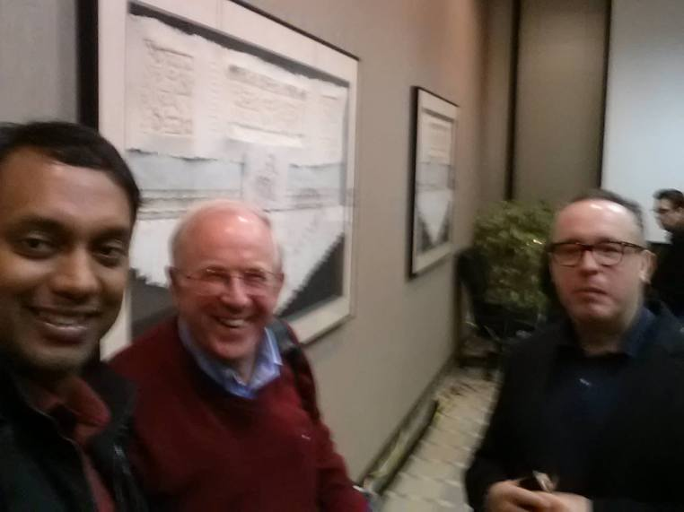 Selfie with Jim Ware (Future of Work.net) and Philippe Mora