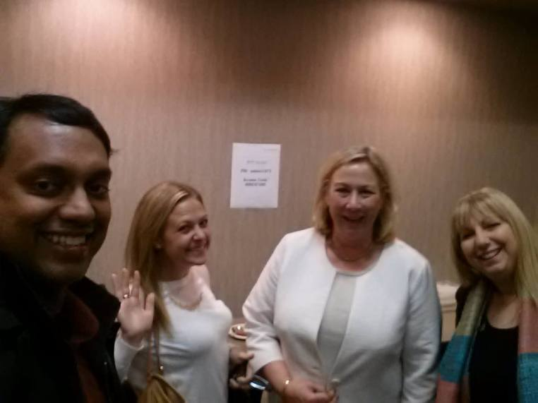 Selfie with Carrie Young (TalkSocialToMe), Catherine Shinners and Ayelet Baron