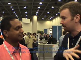 2007-08 Web2.0 Expo, inteviewed by Aaron Teersteg of Intel Software Network [photo: Intel]