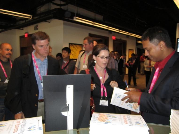 Book signing at Enterprise 2.0, May 2010 [Photo: IBM]