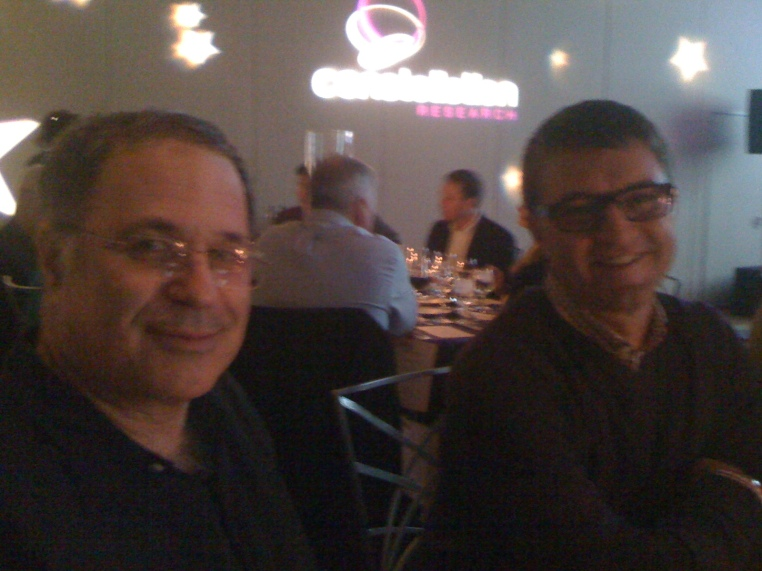 Dinnerside with Paul Greenberg (@pgreenbe) and Jeff Nolan (@jeffnolan) at Constellation Connected Enterprise 2011