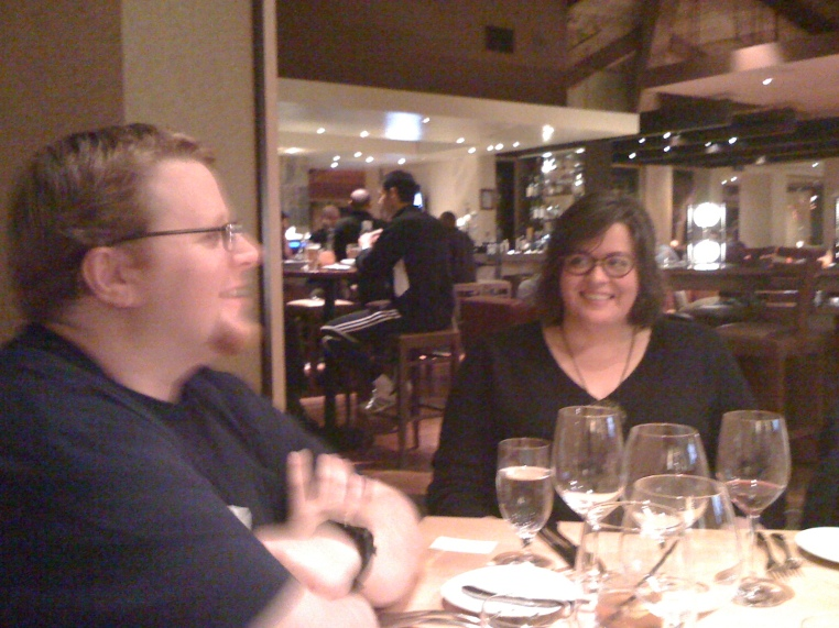 Socialcast dinner with Tim Young (@timyoung) and Megan Murray (@meganmurray), Enterprise 2.0 Conference 2011, Santa Clara