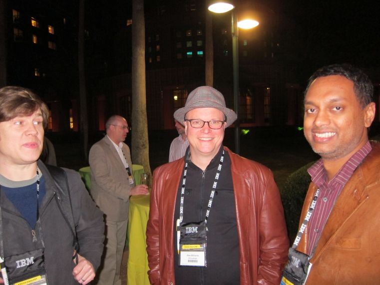 With James Governor of Redmonk and Alex Williams of SiliconAngle, 2012-01-29 Lotusphere2012 / Connect2012 [photo: Todd Watson]