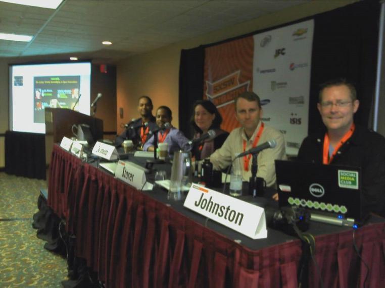 SXSW2012 panel on Serendipity with Duleesha Kulasooriya, Jennifer Okimoto, Jim Storer and Bill Johnston