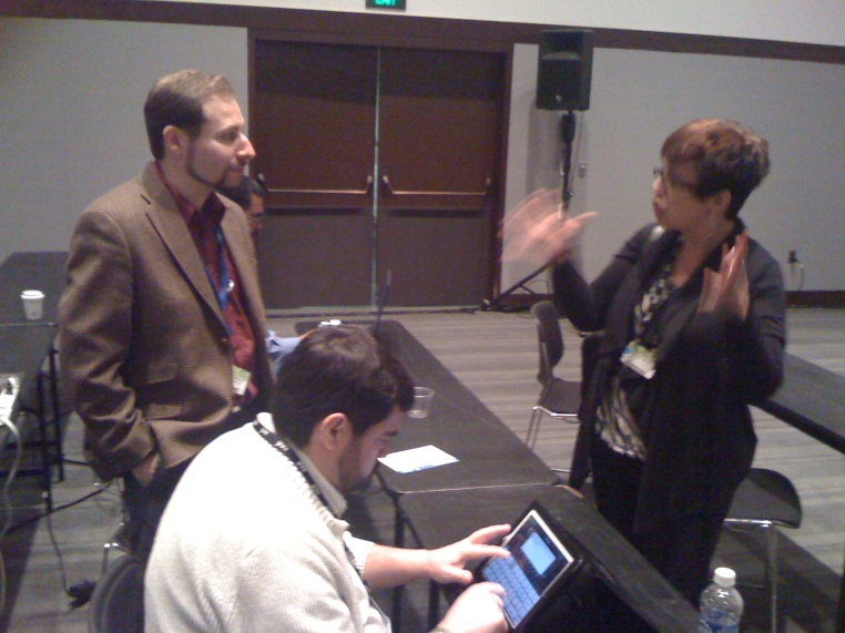 Josh Scribner, Luis Suarez and Teresa Doyon at Enterprise 2.0 Conference 2011, Boston