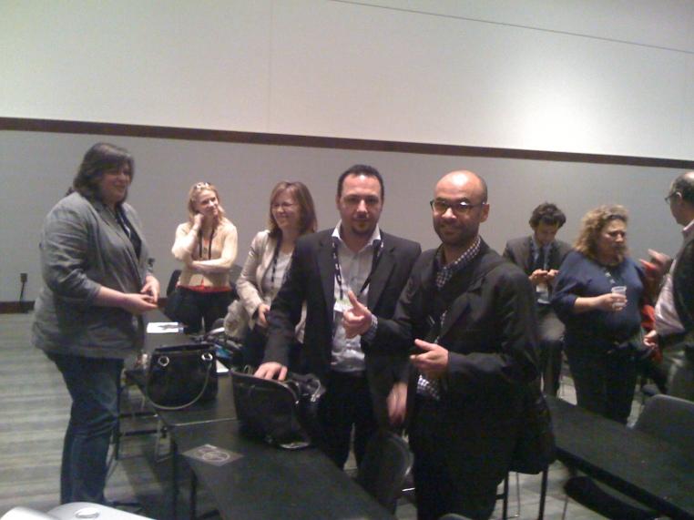 Megan Murray, Jamie Pappas, Rachel Happe, Emanuelle Quintarelli and Cecil Dijoux at Enterprise 2.0 Conference 2011, Boston