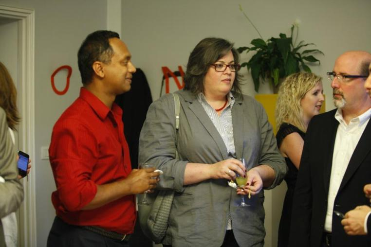 With Megan Murray and Christian Finn, Social Business Forum 2012 after party, Milan