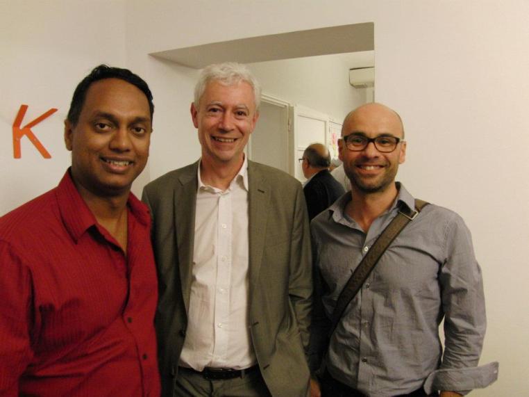 With Thierry De Ballion and Cecil Dijoux at Social Business Forum 2012, Milan [photo: Luis Suarez]