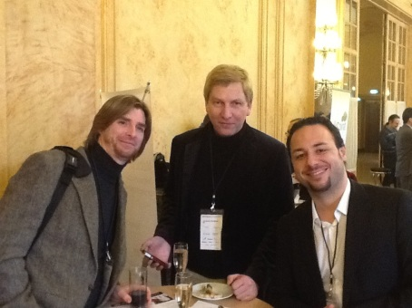 Mark Masterson (@mastermark), Joachim, and Emanuele Quintarelli (@absolutesubzero) at Enterprise 2.0 Summit 2012, Paris