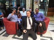 Enterprise 2.0 Summit 2013 (@elsua, @AnaSilvia, @JonHusband, Anthony Poncier @aponcier, myself, Emanuelle Quintarelli @absolutesubzero in foreground)