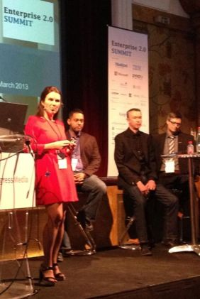 Enterprise 2.0 Summit 2013, Paris (L-to-R: Anna Van Wassanaer, Rawn, Lee Bryant, Harald Schirmer)